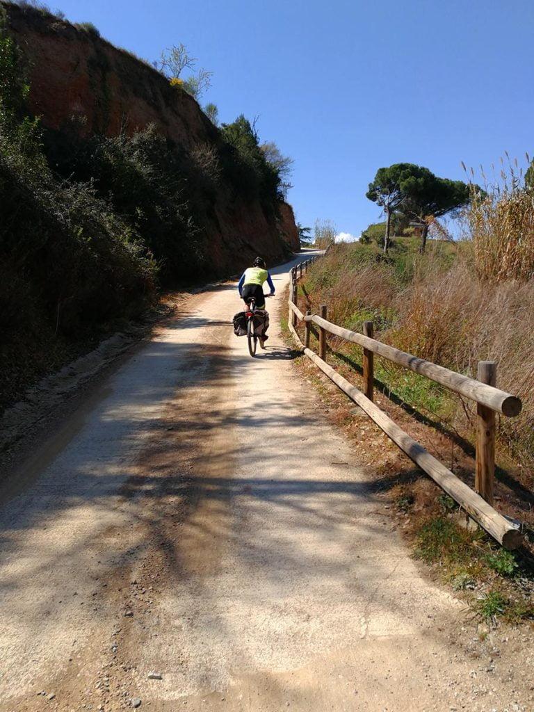 Rampote hormigonado hacia Vallbona d'Anoia